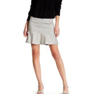 Rag & Bone Romy Wool Blend Gray Fluted Skirt